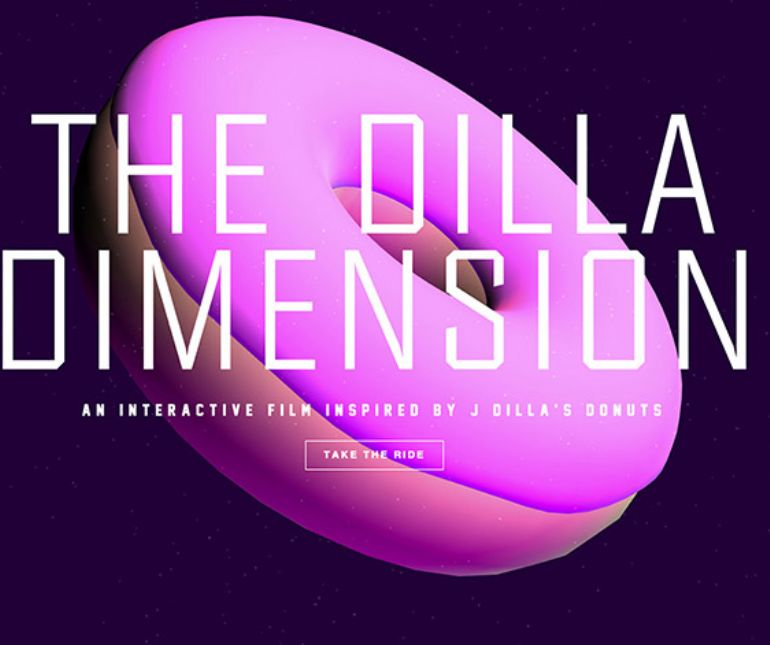 The Dilla Dimension甜甜圈3D互动HTM5网站