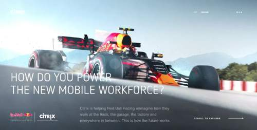 基于Unity3D引擎开发的3D网站Red Bull Racing + Citrix