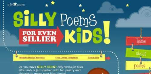 Silly Poems for Even Sillier Kids  可爱儿童HTML5网站